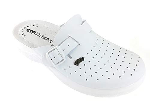 6e13b34c53 Zapatillas Health Axa Professional Shoes, Fabricadas en Italia en Piel  auténtica - Color Blanco - número 42