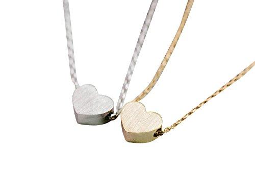 My Sweet Love Baby Kleiner Mini Big beste Festen Engel menschlich Gute glühende Liebend Königreich für immer Süßigkeit Natur Herz-Charme-Anhänger-Halskette für Frauen Teen Mädchen-Kinder (Silber Hippie Kit)