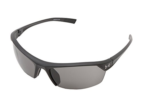 Under Armour Zone 2.0 Satin Black Frame, with Black Rubber and Gray Lens