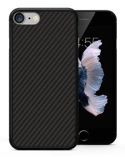 Custodia per iPhone 7 Minimalista, BCIT Aramid Fiber [Materiale Anti Proiettile] Sottile Leggero Custodia Snap-On per iPhone 7 - Nero Nero