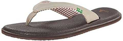 Sanuk Women's Yoga Chakra Flip Flop, Light Natural, 6 M US