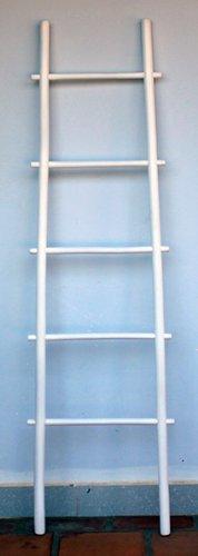 MGP blr-60W Bambus Leiter Rack, weiß, 152,4cm