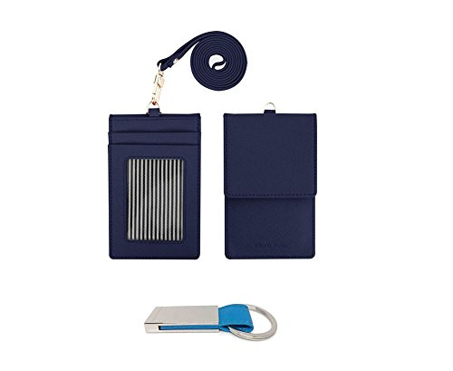 genuine-leather-credit-card-holder-wallet-with-mirror-id-badge-case-with-neck-strap-navy