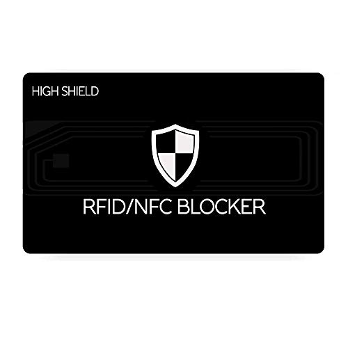 Protezione RFID - HIGH SHIELD - RFID Card - RFID Blocking Card - RFID Blocker - RFID/NFC Card Protection - Anti RFID - Ottima Carta di Protezione per Portafogli o Portacarte