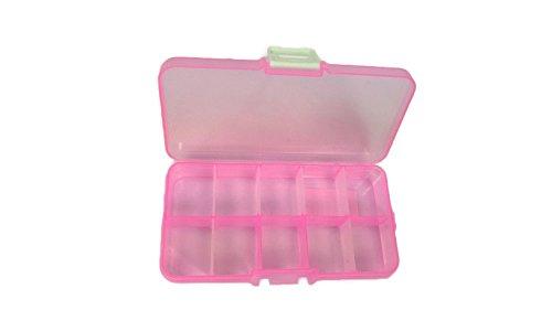 Allzweckthermometer ANSIO 93923 Tiny 10 Fächer, verstellbar, Kunststoff, Aufbewahrungsbox, Schmuckkästchen, Werkzeug Behälter, - Loom Armband Organizer