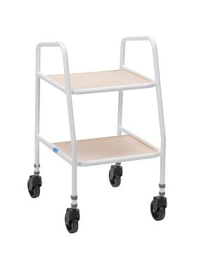 Rutland Adjustable Trolley in White 275WHT Clip on shelves Robust - inexpensive UK light store.