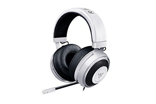 RAZER Kraken Pro V2 - Over-Ear Prise jack Casque Gaming Headset Analogique, Over-Ear Casque Gamer pour PC et PS4, Blanc
