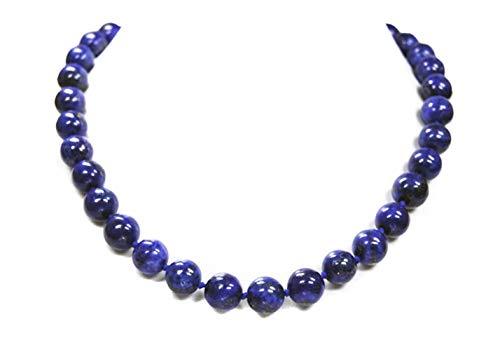 Halskette aus Lapislazuli in Kugelform D-11 mm L-45 cm