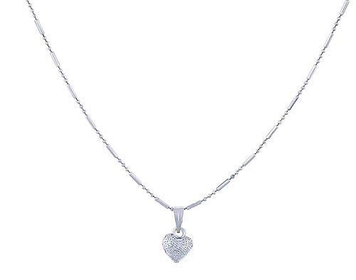 Tazs Silver Plated Chain with Sweet Heart Pendant