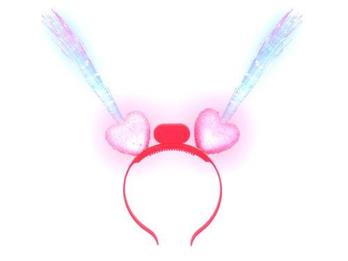 Blink Haarreifen Herz mit Glasfaser alle Farben, Farbe - Halloween Blinky Lichter