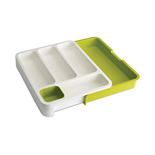 Joseph Joseph Drawer Store with Cutlery Tray - White/Green