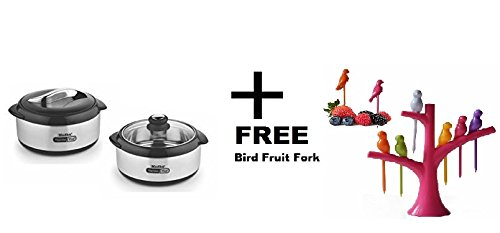 Madhu Cookware Hot Serve 2500 Thermo Plus with Two Lid for Serve And Storing Purpose + 1 Bird Fruit Fork Worth Rs-110 Absolutely FREE