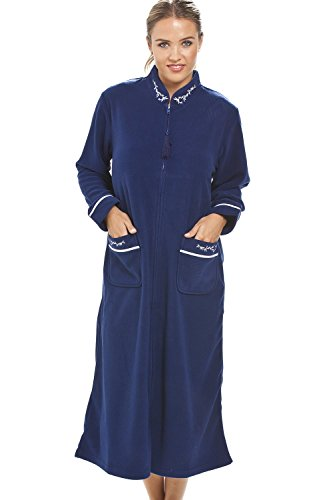 Robe de chambre - fermeture Éclair - bleu marine 38/40