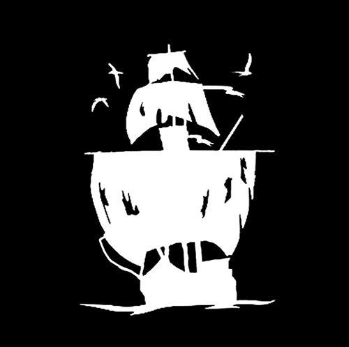 14,9 CM Piratenschiff Grafik Dekor Auto Styling Aufkleber Vinyl Silhouette Zubehör Motorrad 2 Stück ()