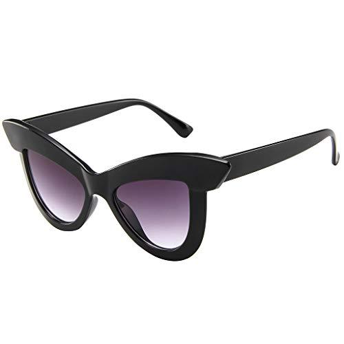 fazry Damen Katzenauge Sonnenbrille Retro Rahmen Brillen(B)