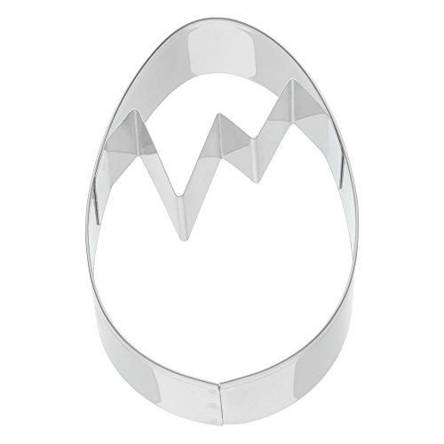Kaiser La Forme Plus Ganzjahresausstecher Plätzchen Ausstecher, Ostern Ei, Ausstechform für Kekse, Ø 8 cm, Stahl, Transparent