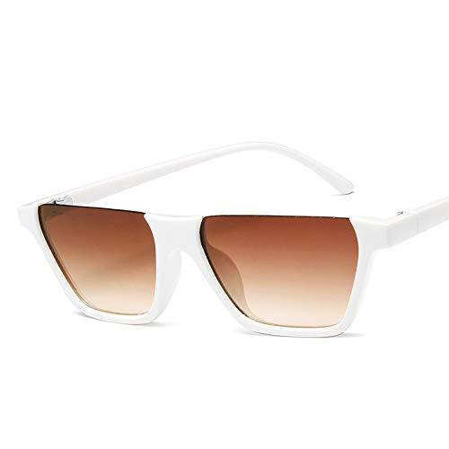 YUHANGH Klassische Mode Retro Designer Sonnenbrille Super Half Frame Brille Cat Eye Halbrandlose Damen Sonnenbrille Brille