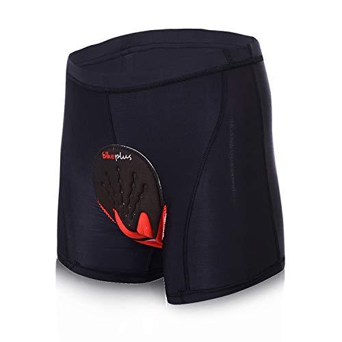 Asvert 3D Gel gepolstert Radunterhose Herren Kurze Hose Unterwäsche Dickes Silikon Kissen für Radfahren Reiten Fahrradtour Radtouren MTB, XL
