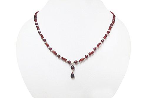 Handgemachte dunkle rosa-Granat-Korn-Halsketten-Strang-Schmucksachen für Frauen mit Sterlingsilber-Entdeckungen 16