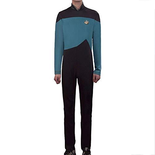 PIAOL Star Trek Rollenspiel Kostüm TNG Halloween Kostüm Ball Trikot Stretch Strumpfhose,Blue-M