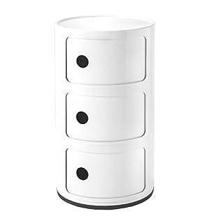 Kartell 4967/03 COMPONIBILE Table de chevet, blanc