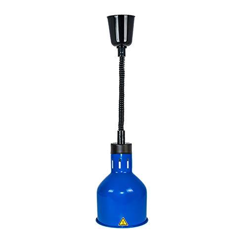 JLNHSDR Küche Lebensmittel Heizung Isolierung Lampe - Teleskop Pendelleuchten - 250W E27 Lampe - Geeignet für Restaurants, Barbecues, Buffets,Blue