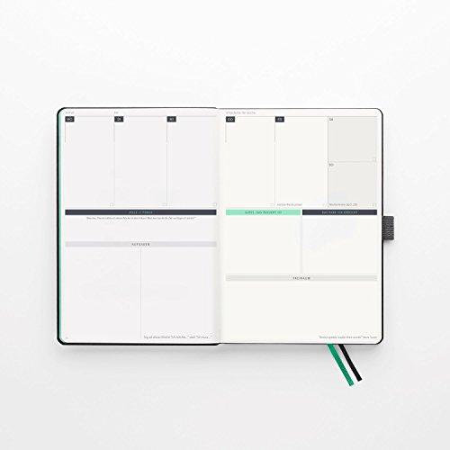 KLARHEIT ® | Life-Coach + Kalender | Der A5-Organizer für mehr Überblick, Struktur und Fokus im Alltag | Selbstcoaching-Tool, Wochenplaner für Termine, Notizbuch | (undatiert, beginne jederzeit) - 6