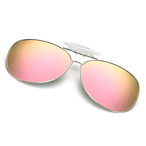 460c2776f81c Dooppa Latest Design Unisex Clip-on Flip-up Polarized Sunglasses - Various  Colors (Pink) - Buy Online in Oman.