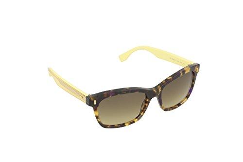 Fendi Damen FF 0086/S ED HJV Sonnenbrille, Braun (Brw Hvn Yellow/Brown Ds), 53