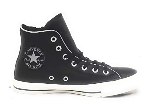 Converse Damen Chuck Taylor CTAS Side Zip Hi Sneakers Mehrfarbig Snow White/Black 001, 37.5 EU Hi Side Zip