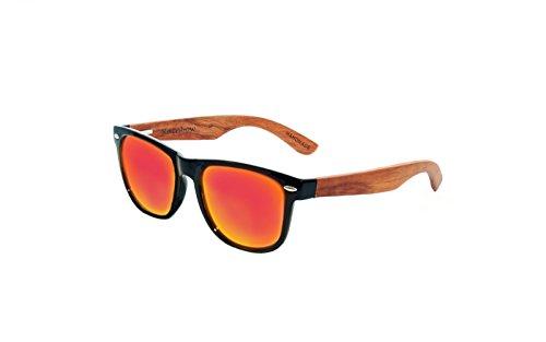 rainbow safety Sonnenbrille Damen Herren Holz Bügeln Polarisierte Gläser RW
