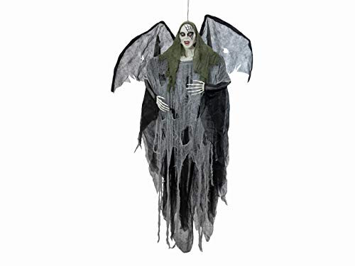 EUROPALMS Halloween Figur Harpyie | Beflügeltes Fabelwesen ALS lebensgroße Hängefigur | Kostengünstige Dekoration für ihre Halloween-Party | Arme und Flügel formbar | Höhe 170 cm