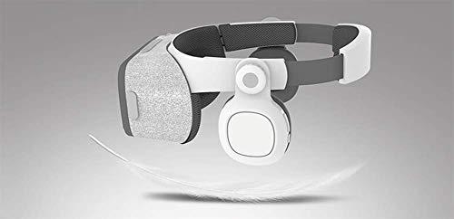 Mit HiFi-Kopfhörer und Brille, Spiel 3D-Brille, VR-Brille für Reisen, Mobile, Kino,White Circumaural Gaming-headset