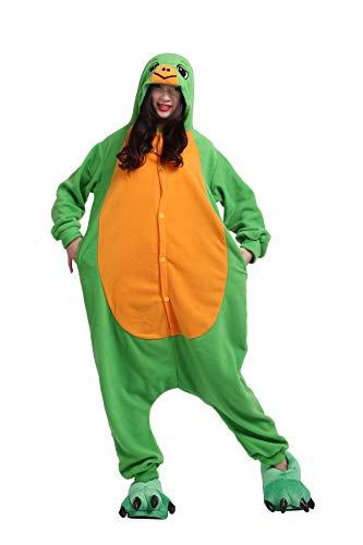 Fandecie Unisex Erwachsene Tier Einteiler Pyjama Damen Herren Kostüm Stitch Fasching Zoo-Kostüm Cosplay Jumpsuit Karneval Halloween Schildkröten Gr. Small, Turtles Fleece-turtle