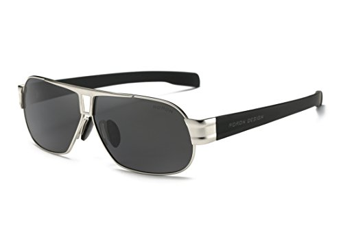 Polarisierte Sonnenbrille Herren Freizeit-UV400Brille Klassisches Design Brillen Oculos Stecker Cool Eyewear Zubehör 8516 - silber
