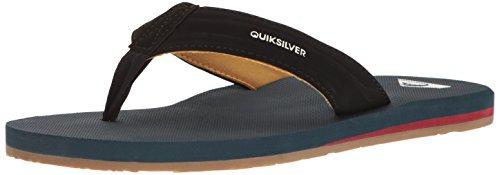 Quiksilver , Herren Sandalen Black/Blue/Blue