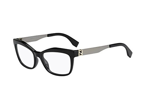 Fendi Montures de lunettes 0050 Pour Femme Black / Ruthenium KKL: Black / Ruthenium