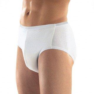 Inkontinenz-Slip für Herren, Größe 6, Farbe weiß