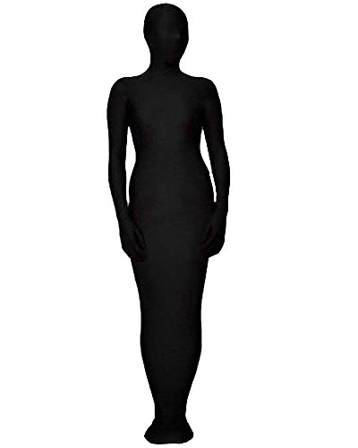 Latex Body Kostüm Anzug - Queenshiny Ganzkörperanzug Anzug Suit Kostüm Schwarz Mummy (L, Mummy-2)