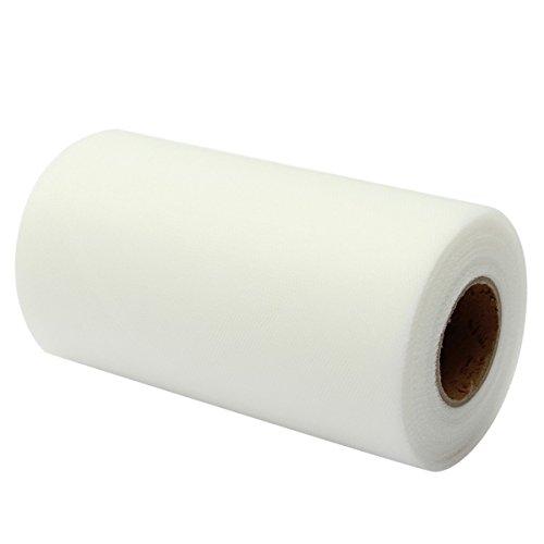 ! Laribbons Tulle del nastro del rullo della bobina per i vestiti la decorazione/Tutu, 15 centimetri di larghezza per 22m/Roll ( 029 Bianco ) miglior prezzo