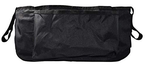 HiTS4KiDS AZ-KFZ-621 Poussette Organisateur Poussette Poussette avec fermeture Velcro Accessoires Poussette Sac de Rangement Pratique Universel Noir