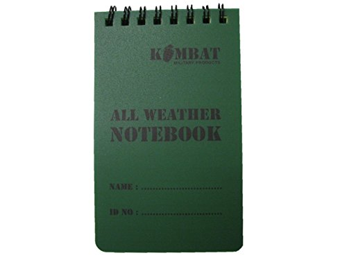 Price comparison product image Kombat UK All Weather Waterproof 50 Page Military Mini Notebook