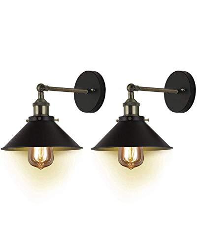 Fubon Wand Leuchten Set von zwei Tiefen Traum Ul Hardwire Industrielle Vintage Wand Lampe Befestigung, Arm Swing Wandleuchten (Bronze, ohne Glühbirnen) (Swing Arm Wand Lampe Bronze)