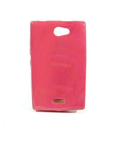 iCandy™ Colorfull Thin Soft TPU Back Cover For Nokia Asha 502 - Raspberry  available at amazon for Rs.99