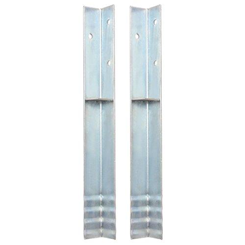 Festnight- Bodenbefestigungsanker L-Form für Spielturm 2 STK. Stahl 5 x 5 x 50 cm