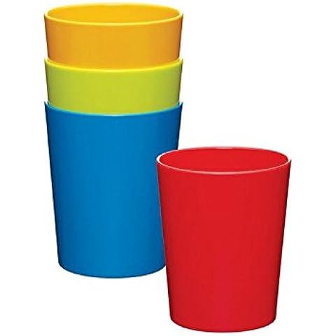 Miniamo Vasos Brillante, Colores Surtidos 4 Por Paquete - Paquete de 6