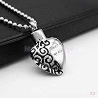 Alcoa Prime 3x Stainless Heart Cremation Urn Memorial Keepsake Holder Pendant Jewelry DIY