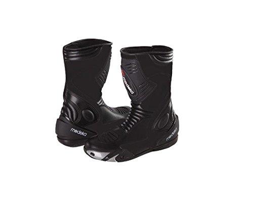 Modeka DONINGTON-2-Stivali da moto in pelle-Nero