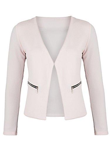 Damen Blazer mit Taschen ( 382 ), Farbe:Rosa, Kostüme & Blazer für Damen:36 / S
