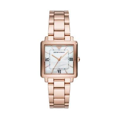 Emporio Armani MODERN SQUARE AR11177 Gold Women's Wristwatch